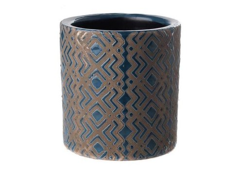 Fine Asianliving Pot Donkerblauw Ethnic