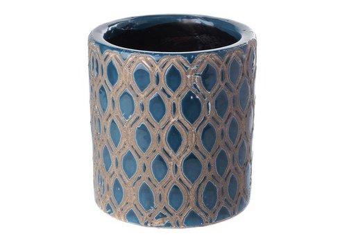 Fine Asianliving Pot Dark Blue Miter