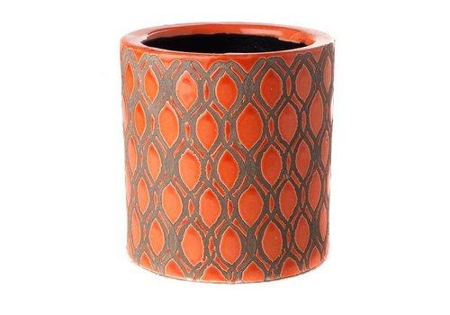 Fine Asianliving Pot Round Orange Miter