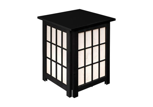 Fine Asianliving Fine Asianliving Oriental Floor Lamp Ricepaper Shoji Wood Andon Black