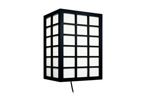 Fine Asianliving Japanse Wandlamp Rijstpapier Shoji Hout Kanazawa Zwart