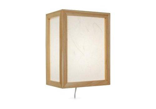 Fine Asianliving Japanese Wall Lamp Ricepaper Shoji Wood Shizuka Natural