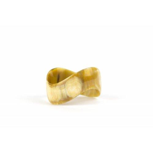 Vietnamese Buffalo Horn Lacquer Cuff Bracelet