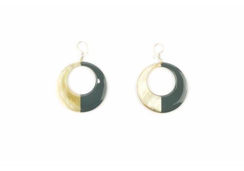 Fine Asianliving Vietnamese Buffalo Horn Lacquer Earrings