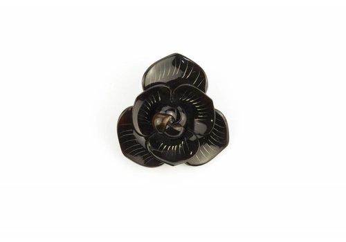 Fine Asianliving Broche Hoorn Flower Black
