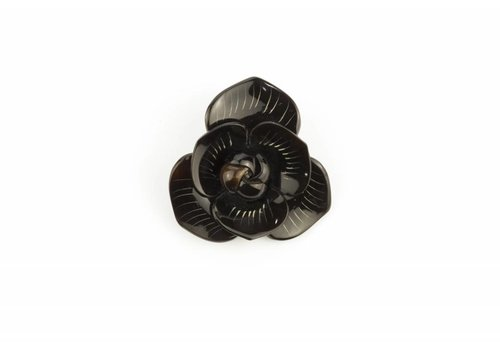 Fine Asianliving Pin Horn Flower Black