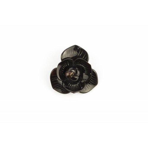 Pin Horn Flower Black