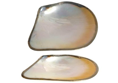 Fine Asianliving Vietnamese Oyster Shell Mother of Pearl Nacre Plate