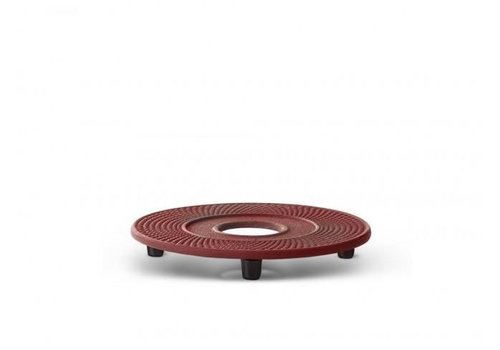 Fine Asianliving Cast iron red coaster Xilin