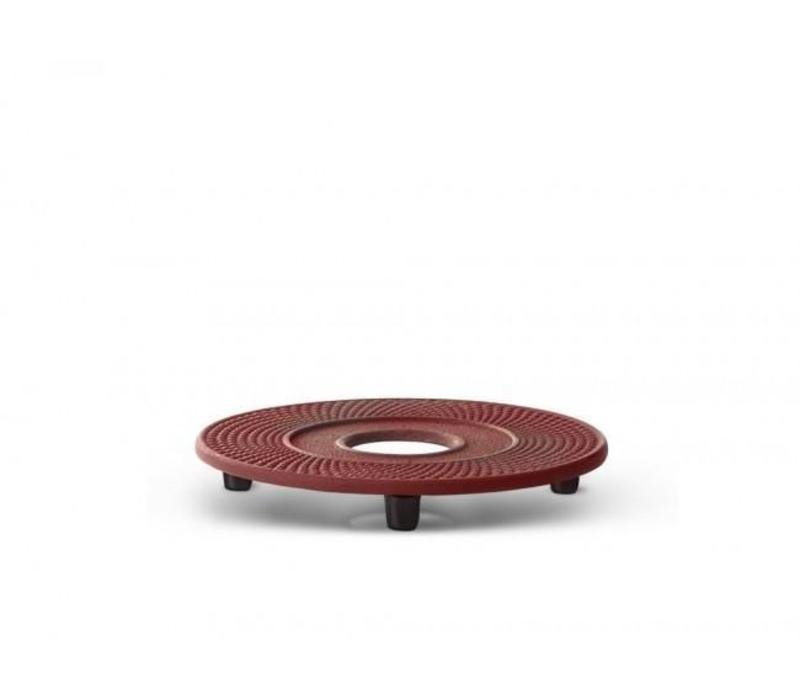 Cast iron red coaster Xilin