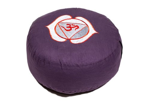 Fine Asianliving Meditation cushion chakra purple