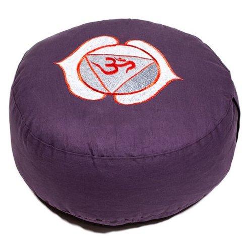 Meditation cushion chakra purple