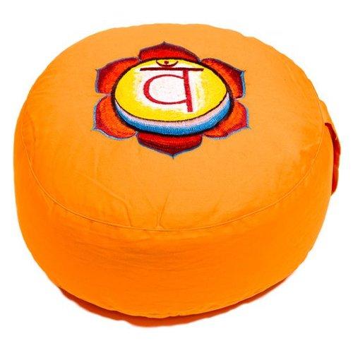 Meditation cushion chakra orange