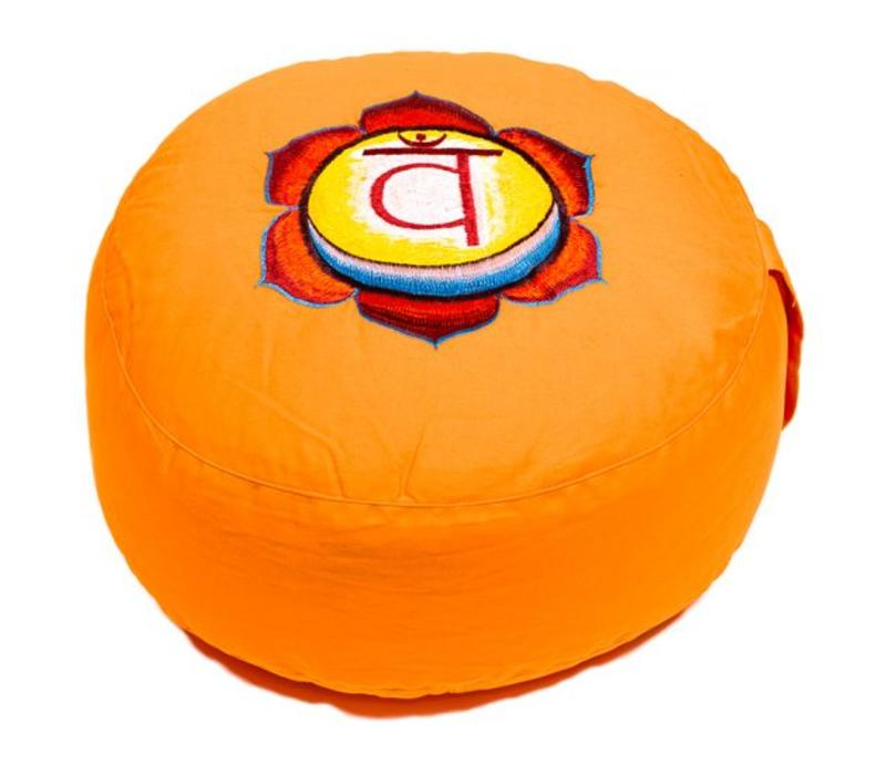Meditation cushion chakra orange