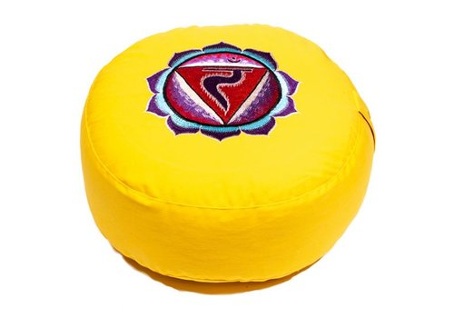 Fine Asianliving Meditation cushion chakra yellow