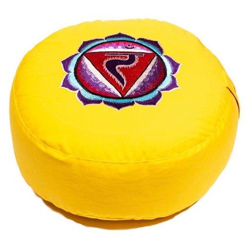 Meditation cushion chakra yellow