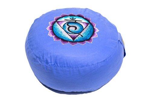 Fine Asianliving Meditationskissen Chakra Blau