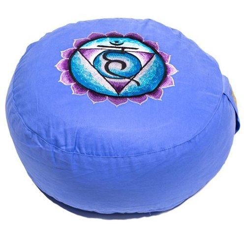 Meditation cushion chakra blue