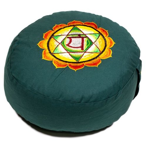 Meditation cushion chakra Green