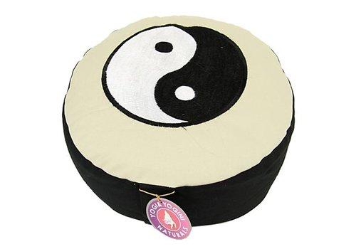 Fine Asianliving Meditatiekussen ZW yin en yang
