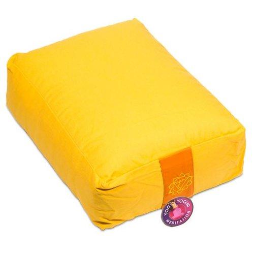 Meditation cushion yellow