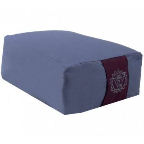 Meditation cushion blue