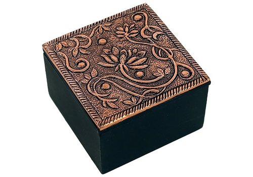 Fine Asianliving Jewelry box lotus copper