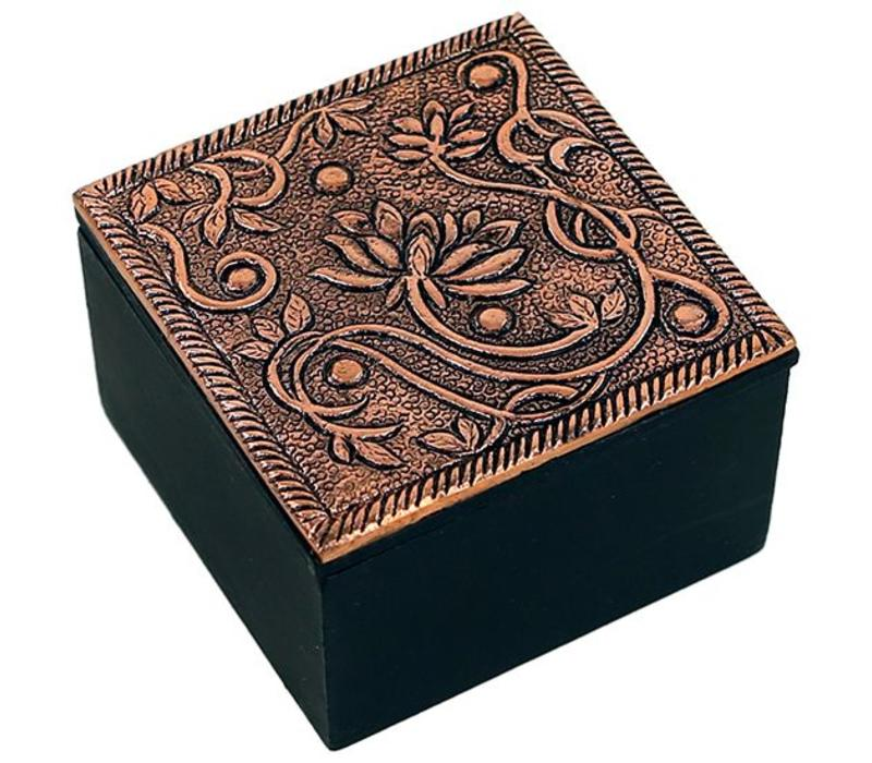 Jewelry box lotus copper