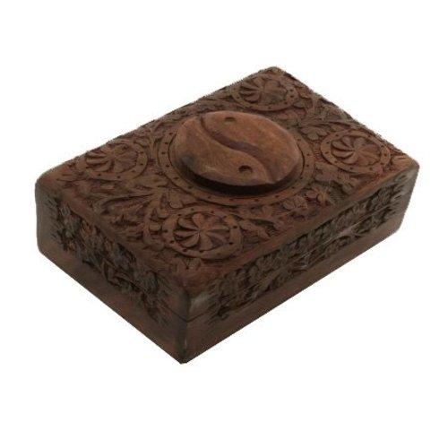 Jewelry box Storage box Yin and Yang Wood carving