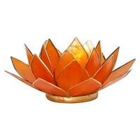 Sfeerlicht open lotusbloem Capiz Schelp Amber