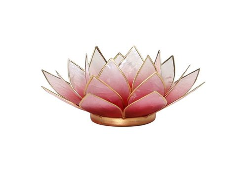 Fine Asianliving Candle holder open lotusflower pink