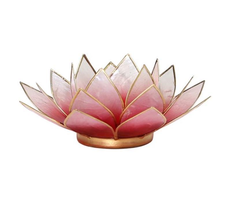 Sfeerlicht open lotusbloem roze