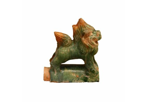 Fine Asianliving Pottery Decoration Roof Tile Lion