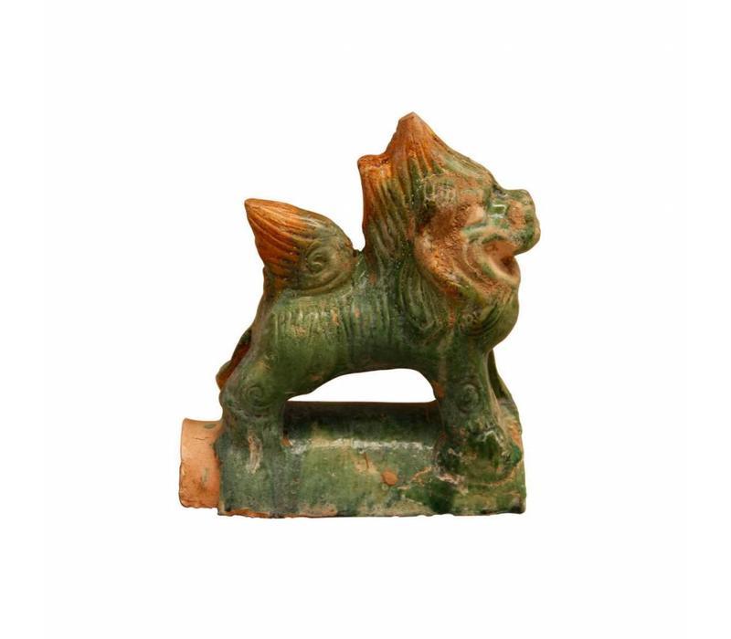 Aardewerk Decoratie Dakpan Leeuw