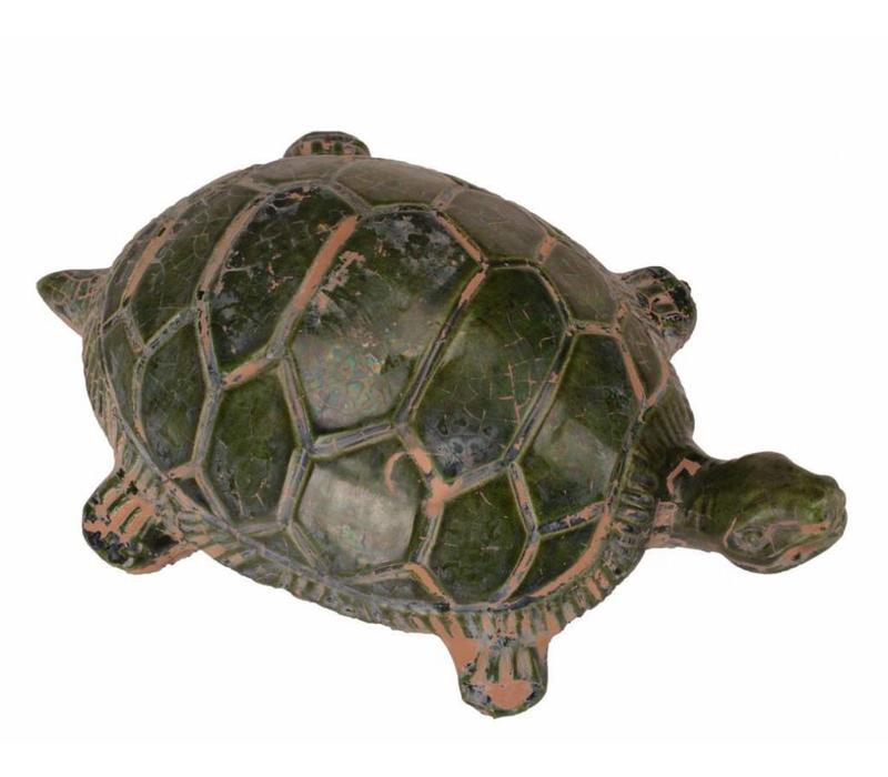 Aardewerk Beeld Schildpad Groen