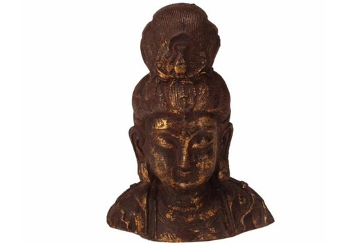 Fine Asianliving Bronzen Chinese Guanyin