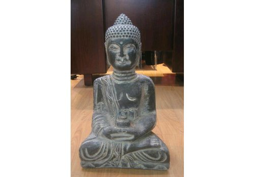 Fine Asianliving Polystone Burma Buddha
