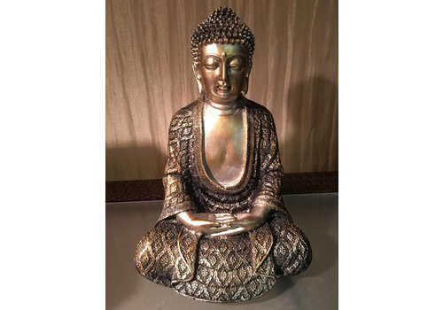 Fine Asianliving Meditating Buddha Lotus M