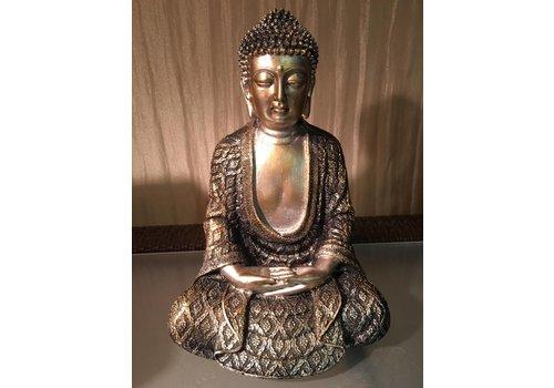 Fine Asianliving Mediterende Boeddha Lotus M