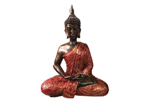 Fine Asianliving Thaise Boeddha Meditatie Bloemen Rood