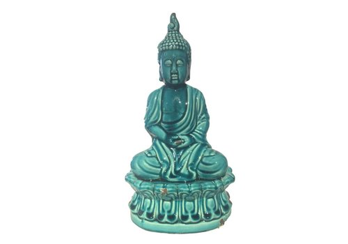 Fine Asianliving Blue Porcelain Buddha