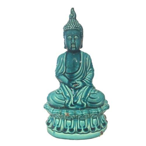 Blauwe Porselein Boeddha