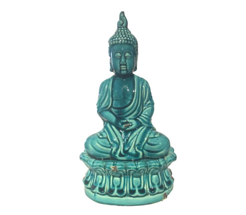 Blue Porcelain Buddha