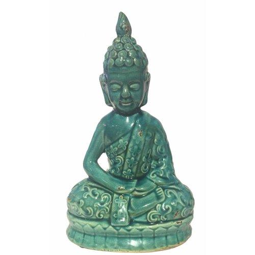 Blauwe Thaise Boeddha Porselein