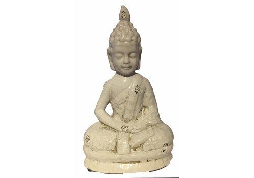 Fine Asianliving Wit Thaise Boeddha Porselein