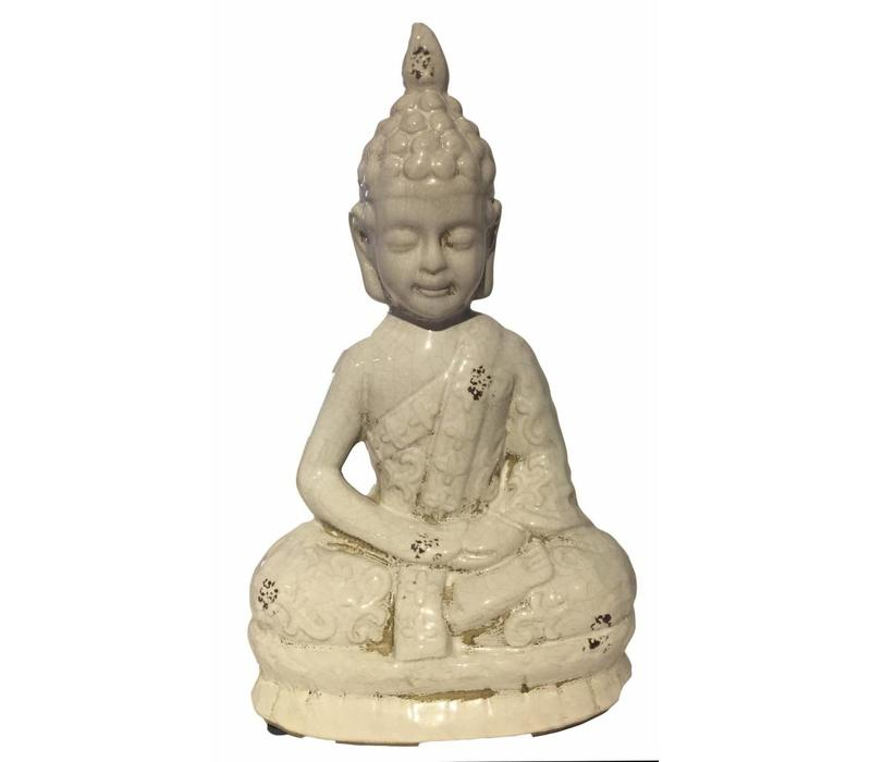 White Thai Buddha Porcelain