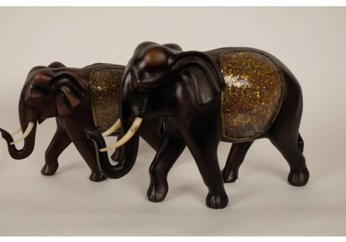 Fine Asianliving Elephant Image Dark brown large 28cm