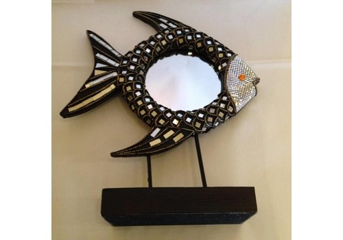 Fine Asianliving Fish Decoration Mirror on Holder