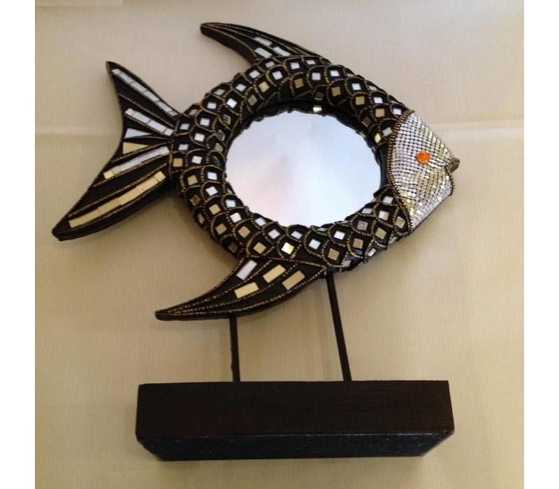 Fish Decoration Mirror on Holder