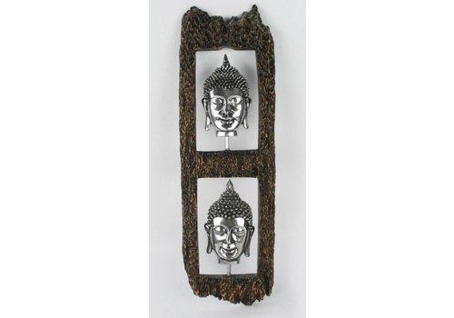 Fine Asianliving Boeddha Hoofd Wanddecoratie
